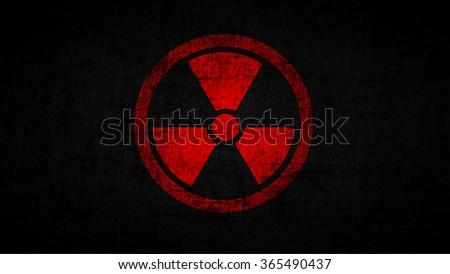Illustration of radioactive sign wallpaper. - stock photo