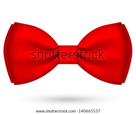 Illustration of red bow-tie - stock photo