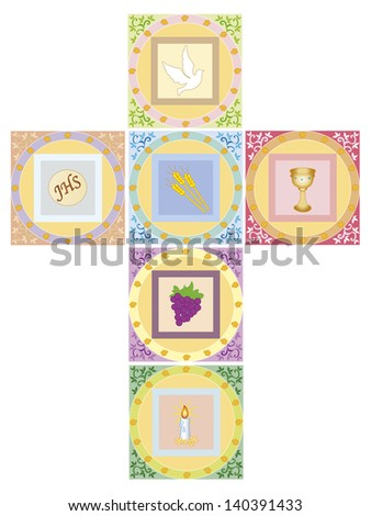 illustration of religion cross isolated - stock photo