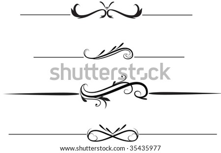 illustration of rule lines - stock photo