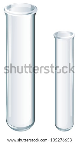 Illustration of scientific glassware - test tubes - stock photo