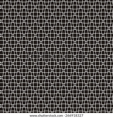 Illustration of seamless black-and-white pattern. Raster version - stock photo