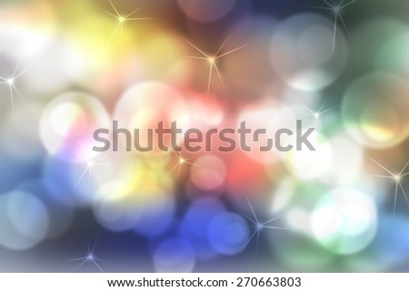 illustration of soft colored abstract background with beautiful twinkling bokeh - stock photo
