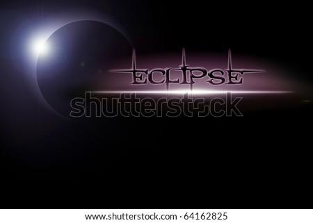 Illustration of solar eclipse - stock photo