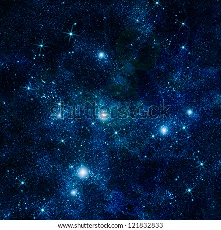 illustration of space with multiple stars - stock photo