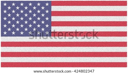Illustration of the American flag. - stock photo