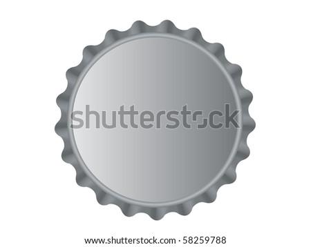 Illustration of the bottle cap isolated over white background - stock photo