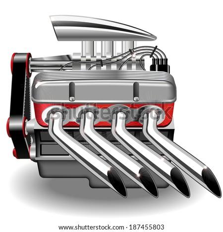 illustration of the engine. - stock photo