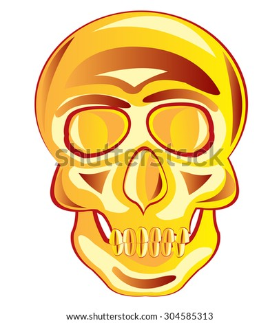 Illustration of the skull of the person on white background.Raster version of artwork - stock photo