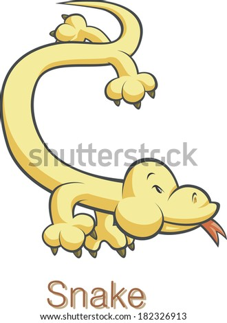 Illustration of the snake - stock photo