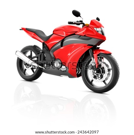 Illustration of Transportation Sport Motorbike Racing Concept - stock photo