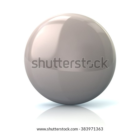Illustration of white glossy button isolated on white background - stock photo