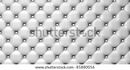 illustration of white  leather upholstery - stock photo