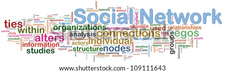 Illustration of words of social networking wordcloud - stock photo