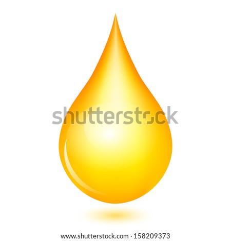Illustration of yellow shiny drop - stock photo