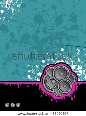 illustration on grunge background ready for your own text - stock photo