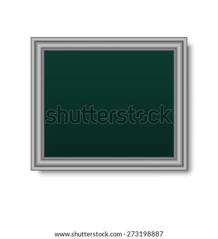Illustration picture metallic frame isolated on white background - raster - stock photo
