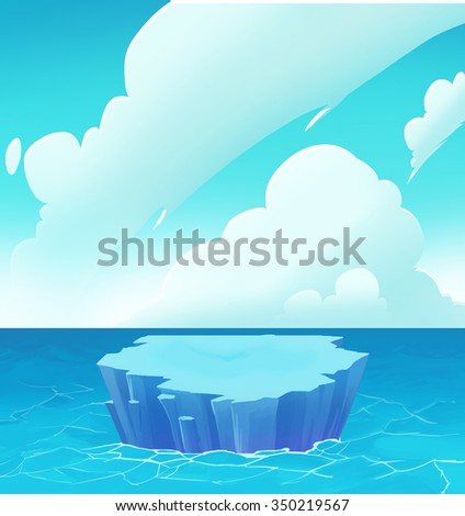 Illustration: The Arctic. Realistic Fantastic Cartoon Style Artwork / Story / Scene / Wallpaper / Background / Card Design  - stock photo