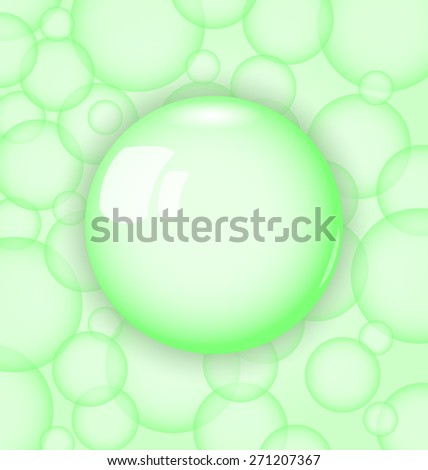 Illustration transparency ball with soap bubble - raster - stock photo