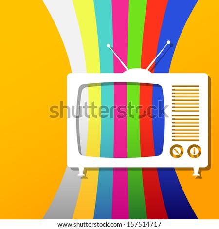 Illustration tv icon background - stock photo