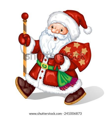 Illustration with Santa Claus  - stock photo