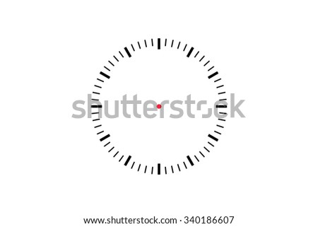 Illustrative front view of time clock icon, isolated on white background. - stock photo