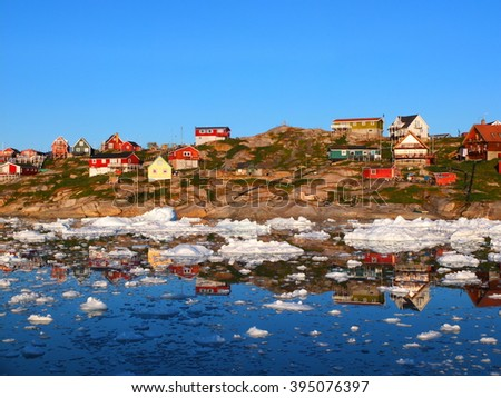 Ilulissat, Greenland - stock photo