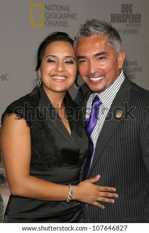 Ilusion Millan and Cesar Millan  at the party to celebrate the 100th Episode of 'Dog Whisperer'. Boulevard 3, Hollywood, CA. 09-17-08 - stock photo