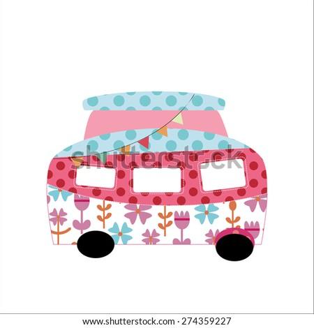 Ilustration of Cartoon bus - stock photo