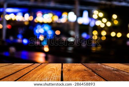 imaeg of  blurred bokeh background with warm orange lights (blurred) - stock photo