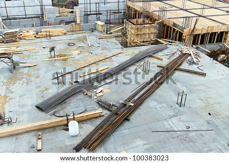 Image building of a new dwelling house - stock photo