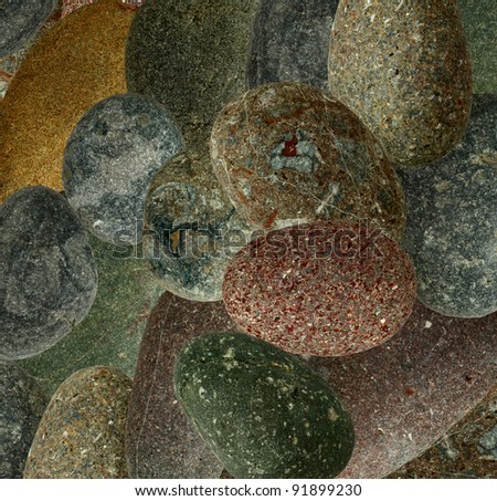image collection consisting of colorful stones - stock photo