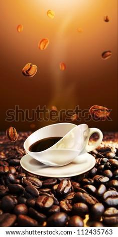 image for coffee machine - stock photo