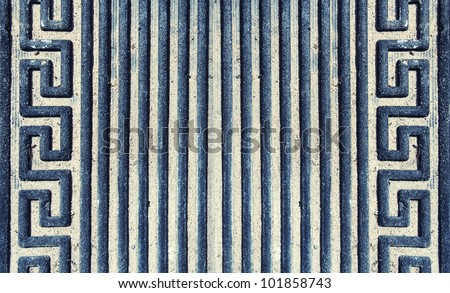 image from object texture background series (old dirty welcome mat) - stock photo