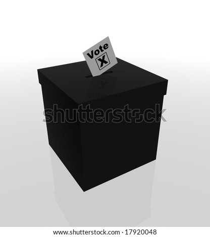 Image of a ballot box and voting slip - stock photo
