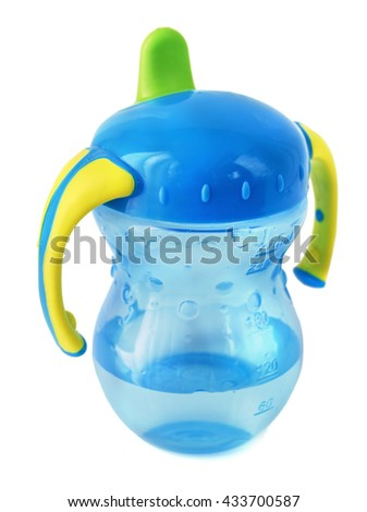 Image of a generic baby bottle or cup. - stock photo