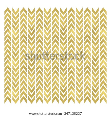 Image of a gold colored chevron pattern background. - stock photo