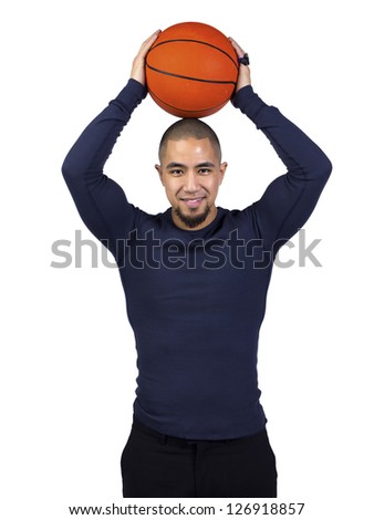 Image of a man pitching a ball - stock photo
