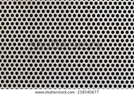 Image of a old silver steel grill metal texture.  - stock photo