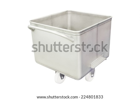 image of a trolley for bread - stock photo