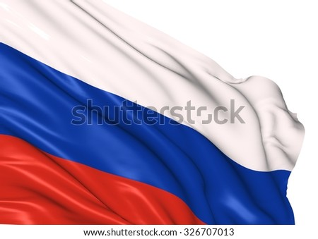 Image of a waving flag of Russia - stock photo