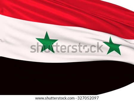 Image of a waving flag of Syria - stock photo