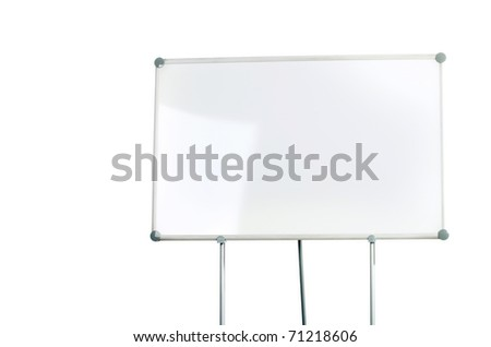 Image of a whiteboard isolated on white - stock photo