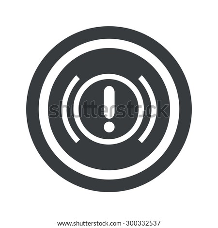 Image of alert sign in circle, on black circle, isolated on white - stock photo