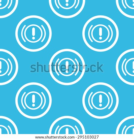 Image of alert sign in circle, repeated on blue background - stock photo