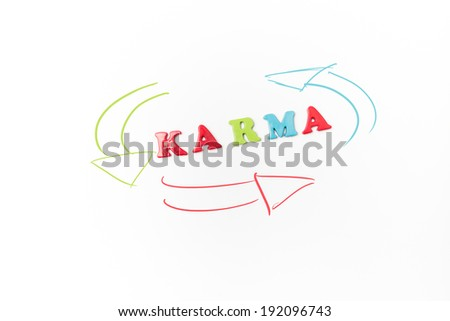 image of alphabets stating Karma - stock photo
