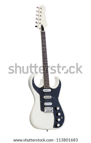 Image of an electric  guitar - stock photo