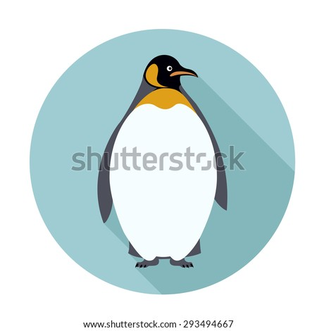 Image of an flat icon with Penguin - stock photo