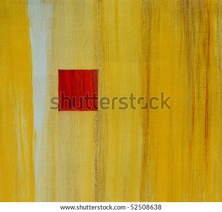 Image of an original Abstract painting On paper - stock photo
