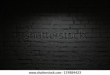 Image of black brick wall background - stock photo